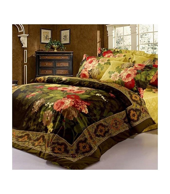 vintage blume bettw sche designer innendekor gloria. Black Bedroom Furniture Sets. Home Design Ideas