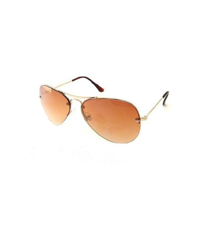 Pilotenbrille mit goldenem Rahmen - Sonnenbrillen - Gloria Agostina