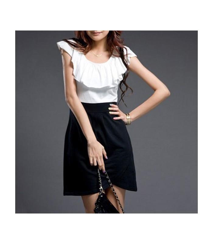 kleid mit stilvollem kragen sommer kleider gloria agostina. Black Bedroom Furniture Sets. Home Design Ideas