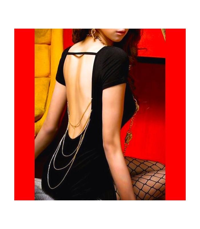 schwarzes kleid mit freiem r cken party kleider gloria. Black Bedroom Furniture Sets. Home Design Ideas