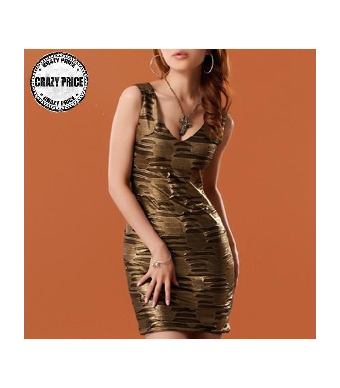 goldene bronze kleid party kleider gloria agostina. Black Bedroom Furniture Sets. Home Design Ideas