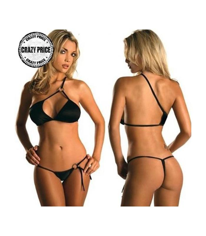Brasiliano caldo bikini sexy nero - Costumi da bagno oversize ...