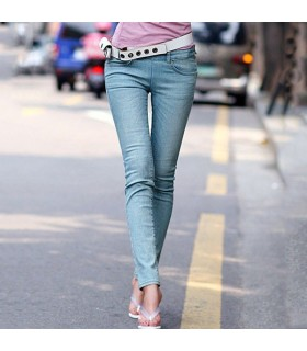 Cool style light slim jeans