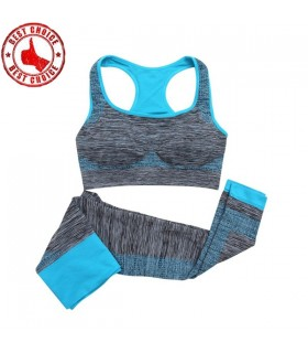 Fitness workout women clothes blue
