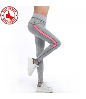 Light grey sport pants with pink