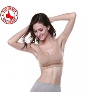 Neutral beige sport bra