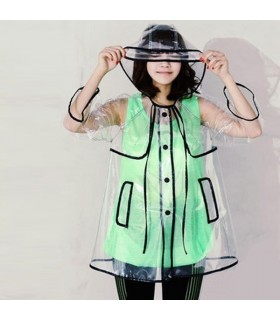 Fashion womens transparent raincoat