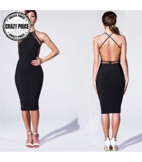 Vestito sexy bodycon Backless