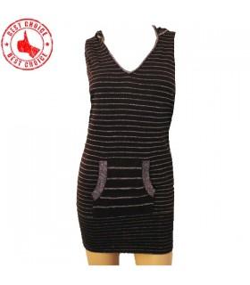 Sparkle vestito lavorato a maglia Brown
