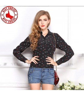 Anchor print chiffon shirt