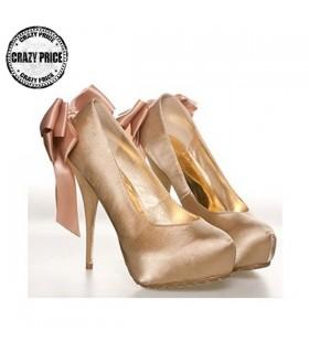 Déesse bowknot pompe or chaussures