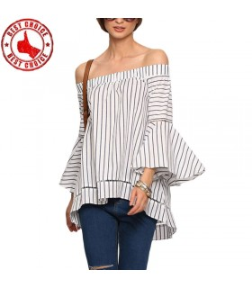 Striped translucent shirt