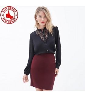 Shirt en coton Lila