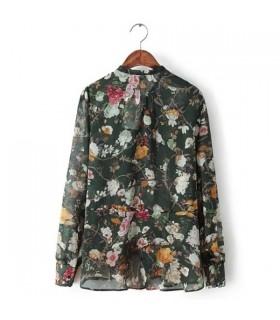Camicia stampa fiore