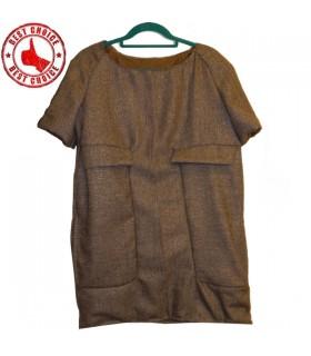 Wolle modernen schnittenen Kleid