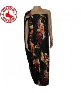 Flüssig seidig gedruckt Kleid