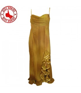 Golden evening sexy dress