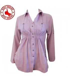 Camicia di cotone Lila