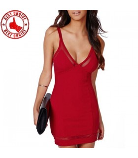 Robe rouge sexy hot