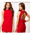 Red chic mini dress