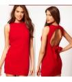 Red mini abito chic