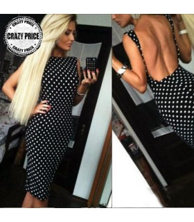 Polka dot pencil dresses