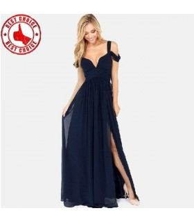 V-Ausschnitt aus der Schulter Kleid