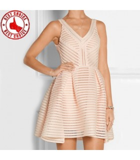 Hollow flare mini dress