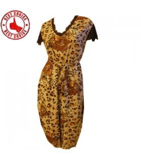 Leopard weiches Textilfreizeit Kleid