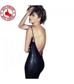 Sexy schwarzes Pailletten Kleid