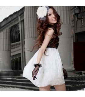 Elegant sweet paillette embellished lace dress