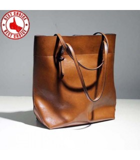 Genuine Leather  Oil Wax Women bag