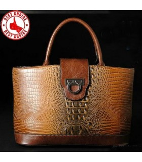 Genuine leather crocodile imitation bag