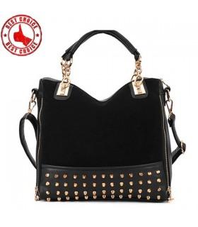 Niet verzierte Schulter schwarze Tasche