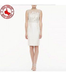 Robe paillettes blanc simple