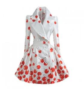 Cappotto moda ciliegio