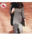 Grau V-Ausschnitt langer dünner Mantel