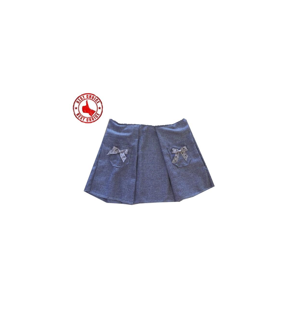 online store bf7f6 9754a Pariser brauner Stoff Rock Größe L