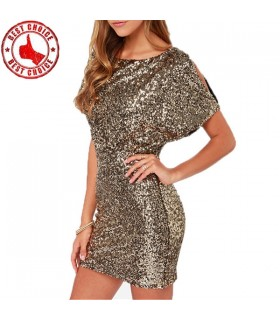 Sequined Slim Mini Dress