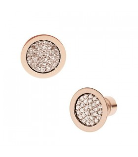 Ladies crystal round nice earrings