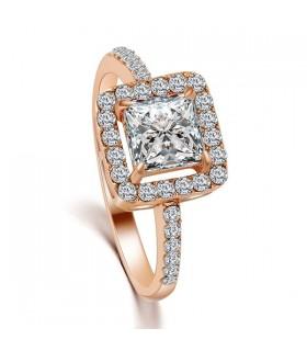 Dichiarazione cubic zirconia oro di cristallo ha placcato l'anello