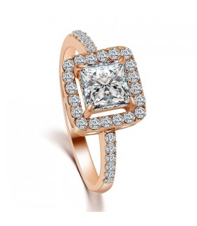 Statement cubic zirconia crystal gold plated ring