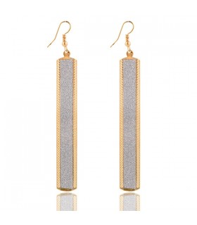 Long strip pendant earrings