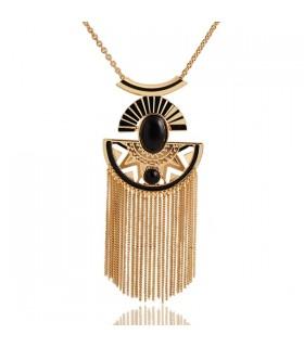Semi di personalità del cerchio lega di fascino collana placcata oro
