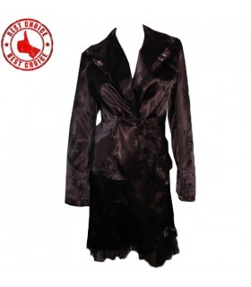 Elegante Satin Frauen Anzug