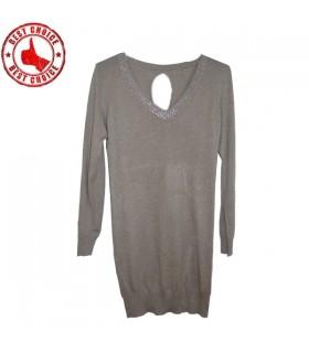 Beige robe tricotée