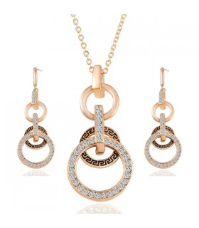 Austrian Crystal Circle Jewelry Sets