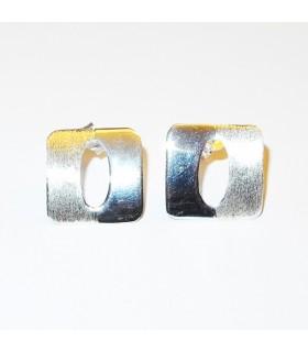Boucles d'oreilles d'argent carrés