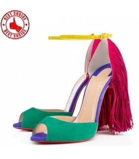Colorati camoscio tacchi alti sandali