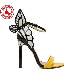 Scarpe gialle farfalla